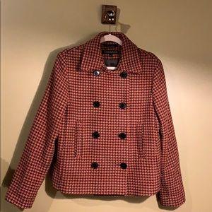 Tahari Houndstooth Double Breasted Jacket /Blazer